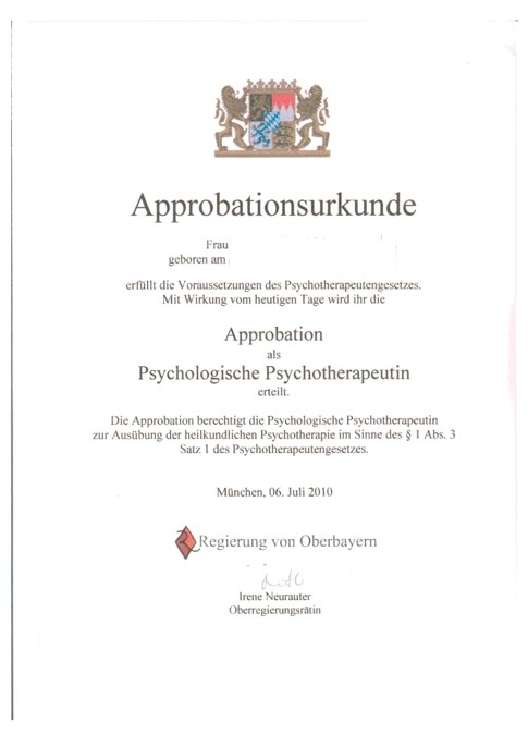 Approbationsurkunde PP